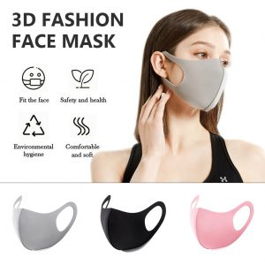 2 Pcs Black/gray/pink Cotton Face Mouth Mask Cover Anti Haze Dustproof Washable Reusable Women Men Adult Mouth Masks Mascarilla