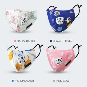Kids Cartoon Print Anti-Dust Face Mouth Mask Lovely Breathable Washable Easy to Breathe Cotton Mouth Mask Thick Warm Winter 2018